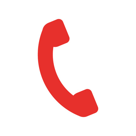 telephone service isolated icon vector illustration design Vector Illustration