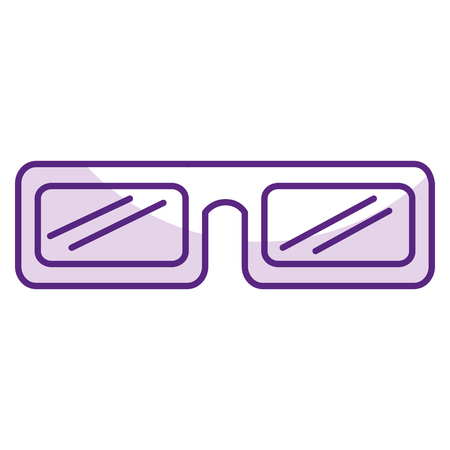 eyewear: glasses 3d isolated icon vector illustration design