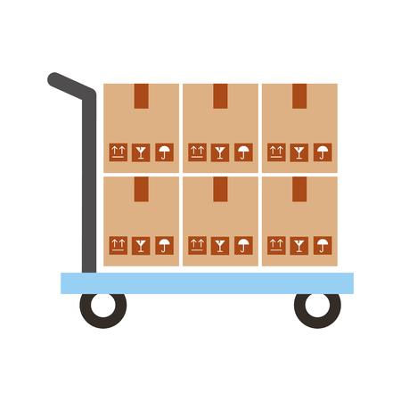 상자 carton 배달 아이콘 벡터 일러스트 디자인 일러스트
