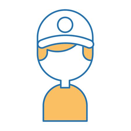 Entrega trabajador avatar carácter vector ilustración diseño Foto de archivo - 80798521