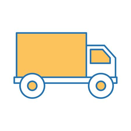 truck delivery service icon vector illustration design