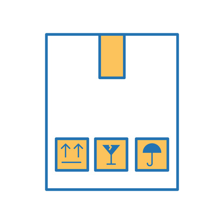 box carton delivery icon vector illustration design Illustration