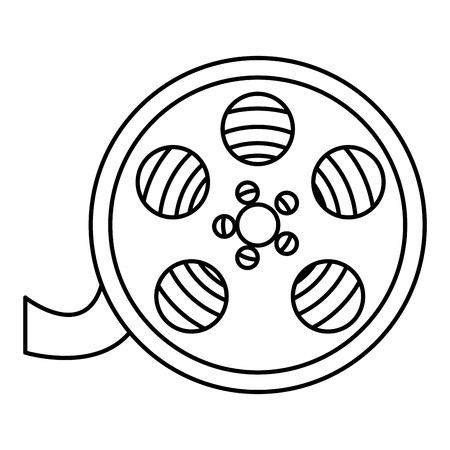 リール分離された映画館のアイコン ベクトル イラスト デザイン  イラスト・ベクター素材