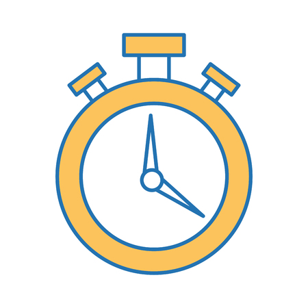chronometer watch isolated icon vector illustration design Illustration