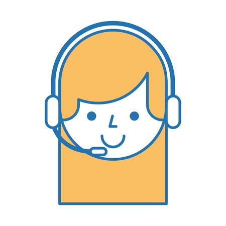 call center agent avatar vector illustration design