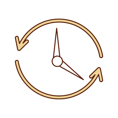 time clock with arrows icon vector illustration design Ilustração