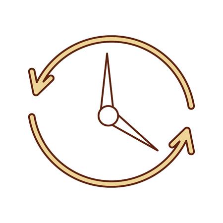time clock with arrows icon vector illustration design Banco de Imagens - 80813234
