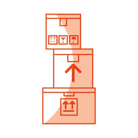 pile boxes carton delivery icon vector illustration design