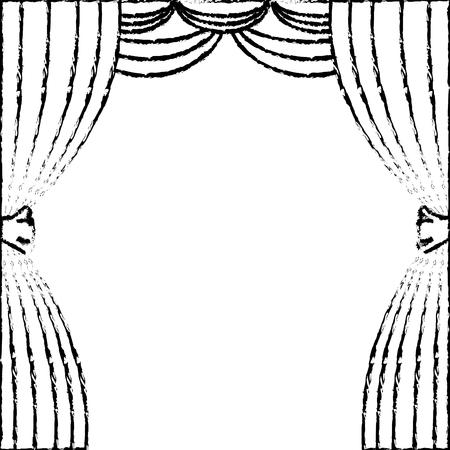 theater curtain isolated icon vector illustration design Illustration