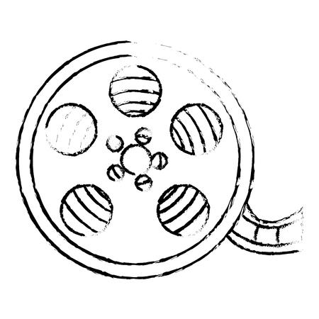 reel cinema isolated icon vector illustration design Stock Vector - 80813304