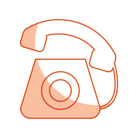 customer service phone: telephone service isolated icon vector illustration design Illustration