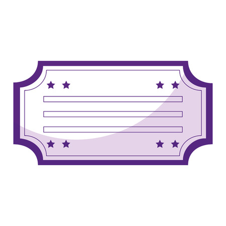 ticket paper isolated icon vector illustration design Illustration