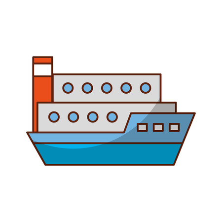 ship cargo isolated icon vector illustration design Çizim
