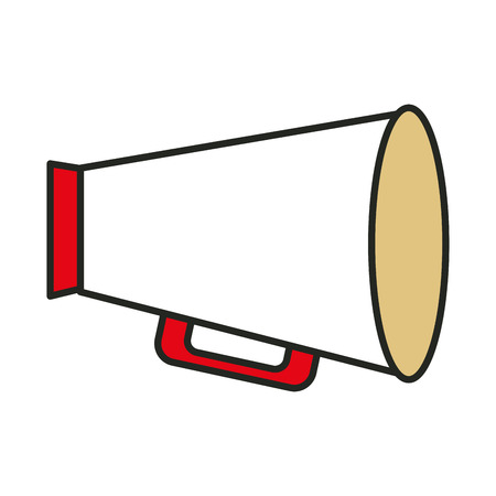 megaphone director isolated icon vector illustration design