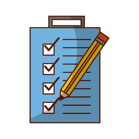 checklist order with pencil delivery service vector illustration design