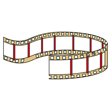 tape cinema isolated icon vector illustration design Illustration