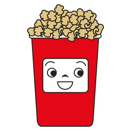 pail: popcorn  character vector illustration design