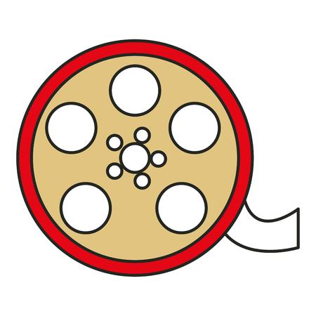 Carrete cine aislado icono vector ilustración diseño Foto de archivo - 80799436