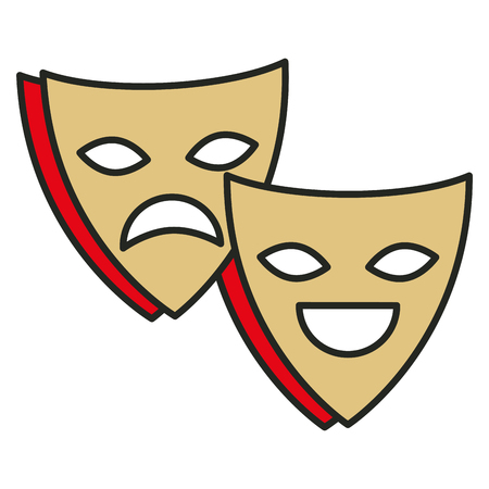 comedy show: theater masks isolated icon vector illustration design