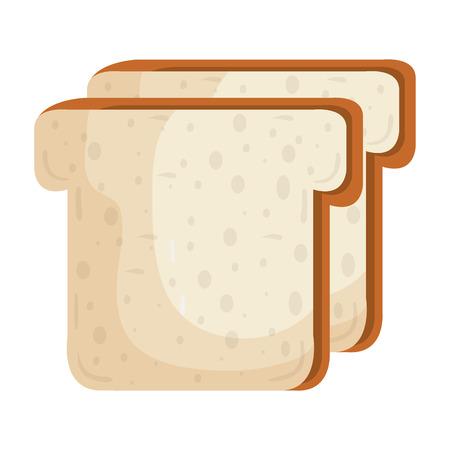 Köstliche Scheiben Brot isoliert Symbol Vektor Illustration Design Standard-Bild - 80799413