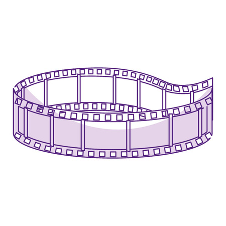 テープ分離された映画館のアイコン ベクトル イラスト デザイン  イラスト・ベクター素材