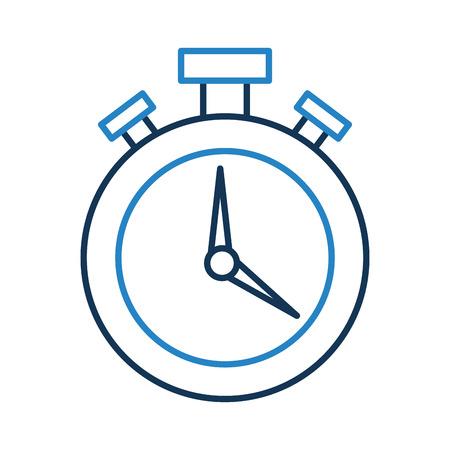 urgency: chronometer watch isolated icon vector illustration design Illustration