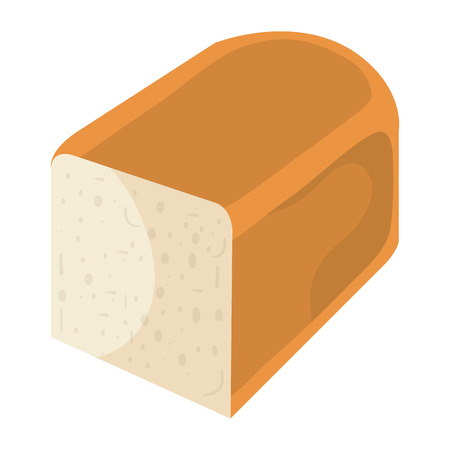 delicious slices bread isolated icon vector illustration design Zdjęcie Seryjne - 80799377