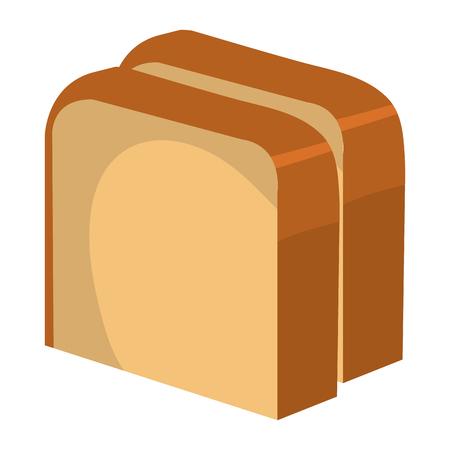 delicious slices bread isolated icon vector illustration design Illusztráció