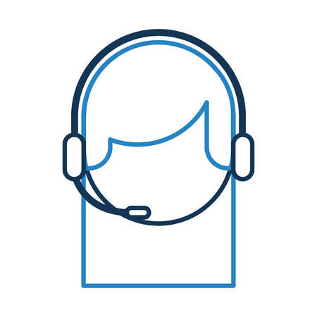 call center agent avatar vector illustration design