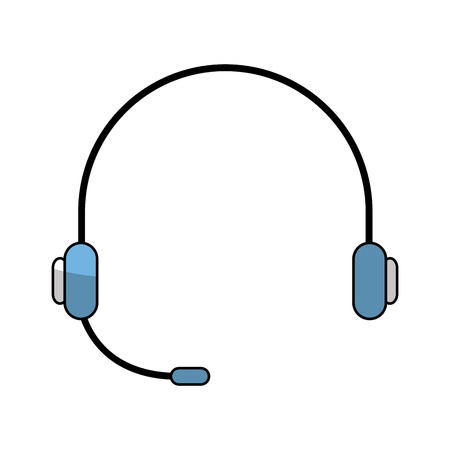 entertainment center: headset device isolated icon vector illustration design