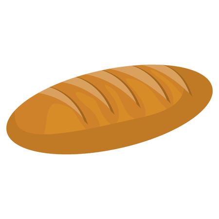 homemade bread: delicious bread isolated icon vector illustration design