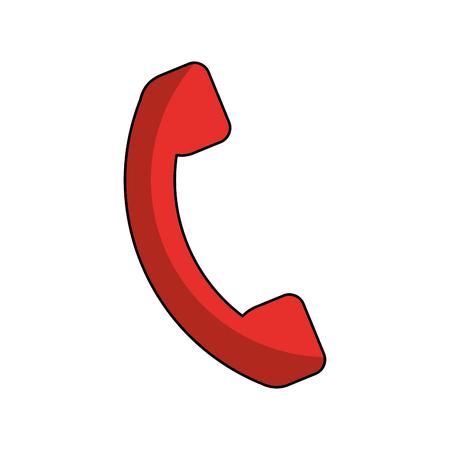 servicio telefónico aislado icono de ilustración vectorial de diseño