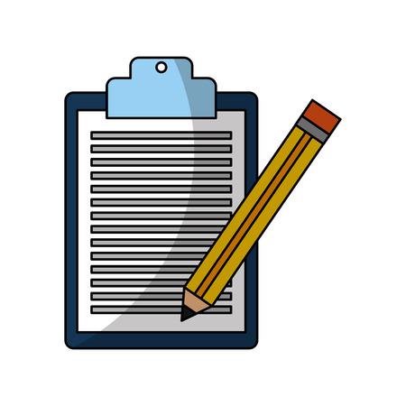 autograph: checklist order with pencil delivery service vector illustration design