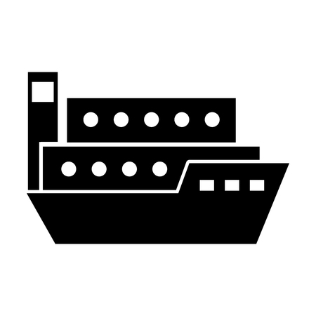 ship cargo isolated icon vector illustration design 向量圖像
