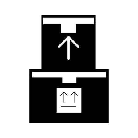 shipments: pile boxes carton delivery icon vector illustration design