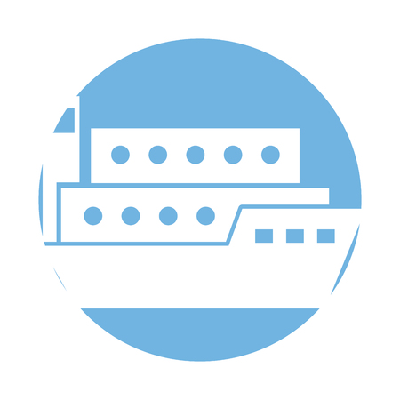 ship cargo isolated icon vector illustration design Illustration