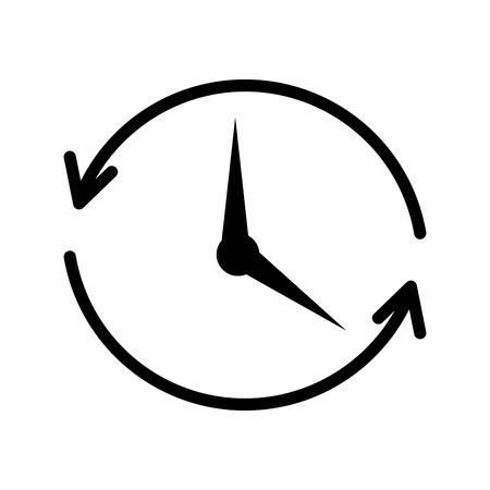 renew.: time clock with arrows icon vector illustration design Illustration
