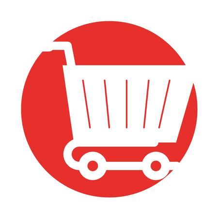 ショッピング カート アイコン ベクトル イラスト デザインを分離しました。  イラスト・ベクター素材
