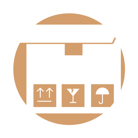 box carton delivery icon vector illustration design Illustration