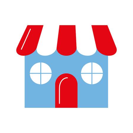 winkel gebouw voorkant pictogram vector illustratie ontwerp