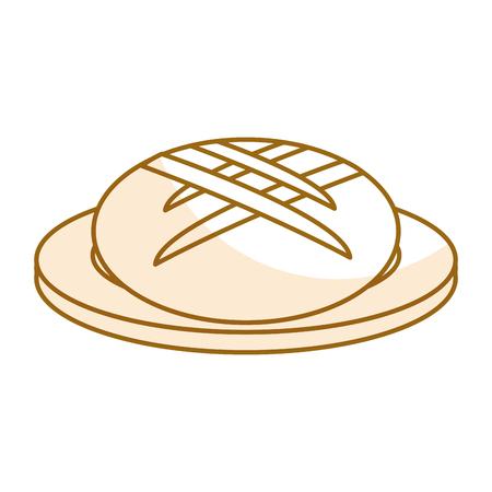 dish with delicious bread isolated icon vector illustration design Illusztráció