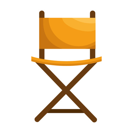 perform: director chair isolated icon vector illustration design Illustration