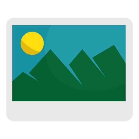 picture file isolated icon vector illustration design Illustration