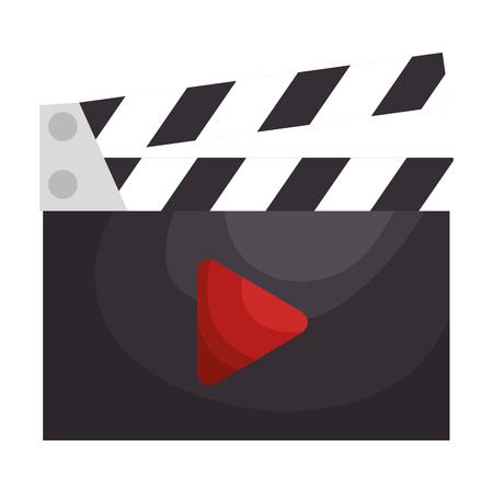 クラッパー ボード映画アイコン ベクトル イラスト デザイン  イラスト・ベクター素材