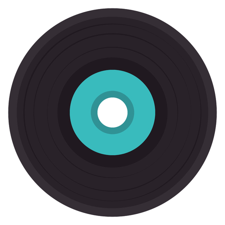 vinyl disk isolated icon vector illustration design Illustration