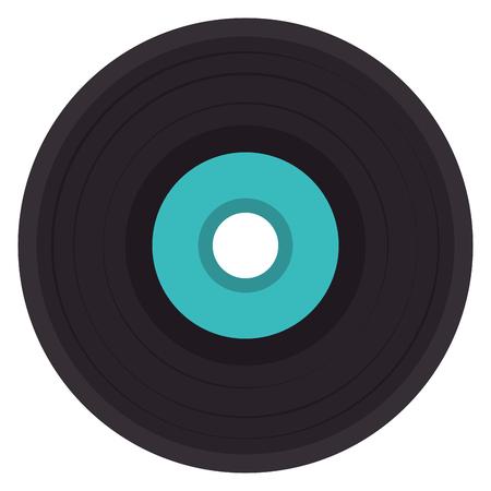 vinyl disk isolated icon vector illustration design Çizim