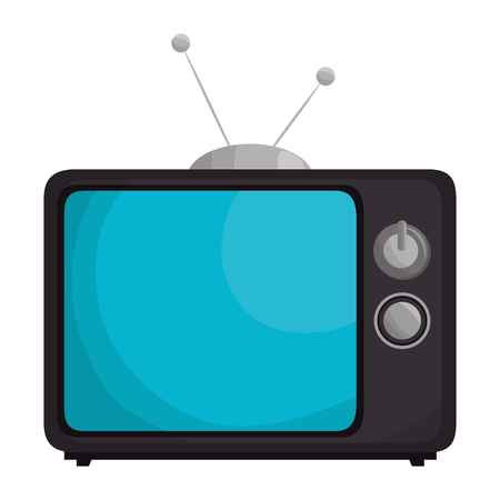 tv retro isolated icon vector illustration design Reklamní fotografie - 80798647