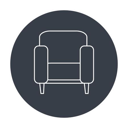 kanapa domu izolowane ikona ilustracji wektorowych projektowania