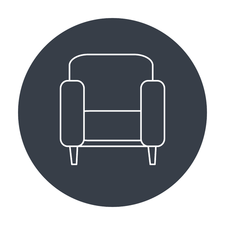 couch home isolated icon vector illustration design