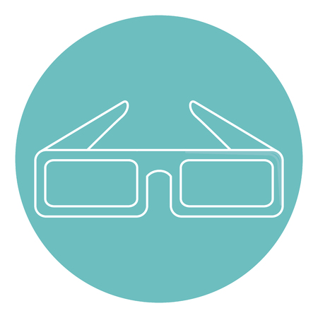 stereoscope: glasses 3d isolated icon vector illustration design